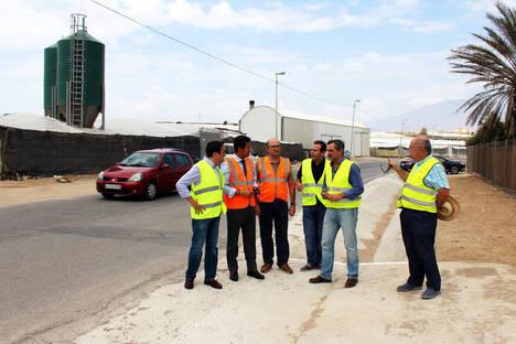 Diputación inicia en El Ejido los trabajos de mejora del acceso de la A-7 a Guardias Viejas