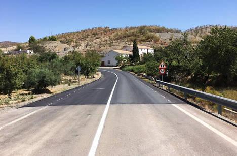 Diputación culmina las obras de mejora en la carretera que conduce al Santuario del Saliente
