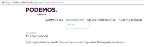 A Podemos se le olvida la transparencia en Almería