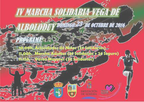 La 'IV Marcha Solidaria Vega de Alboloduy' será en beneficio de la Asociación ANDA