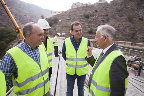 Diputación encara la recta final de las obras del nuevo puente de acceso a Sierro