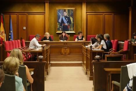 Consejo Provincial de Mujeres en el Salón de Plenos de Diputación