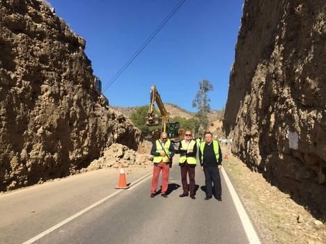 La Junta ejecuta obras de mejora en la A-1075, Alhabia-Terque, para garantizar la seguridad vial de conductores y ciclistas