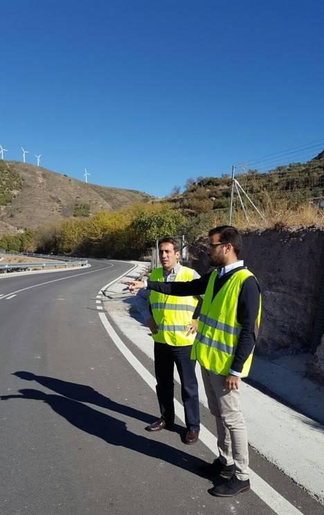 Diputación culmina las obras en la carretera de El Marchal de Enix tras 160.000 euros de inversión