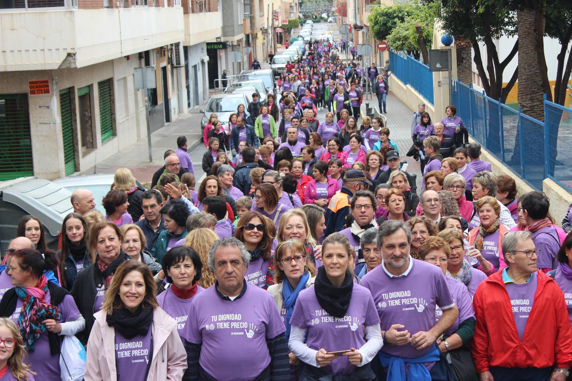 El Ejido sale a la calle para manifestar su repulsa a la violencia de género con la IV Ruta Urbana