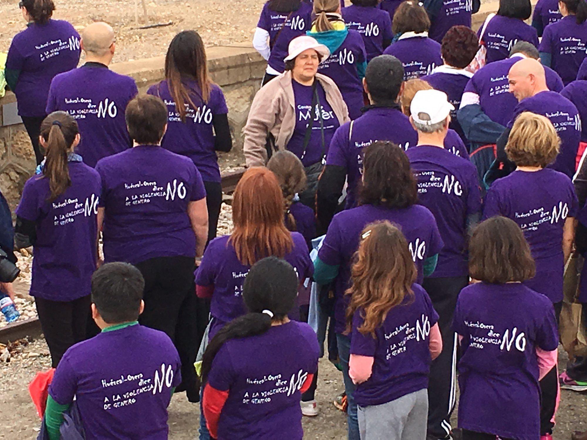 Huércal Overa dice no a la violencia contra la mujer con una caminata