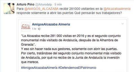 Bronca entre Amigos de la Alcazaba y el director del monumento a cuenta del incremento de visitantes