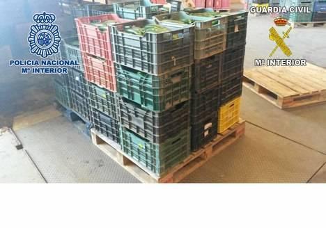 Seis detenidos por vender productos hortofrutícolas sustraídos en campos de Málaga, Granada y Almería