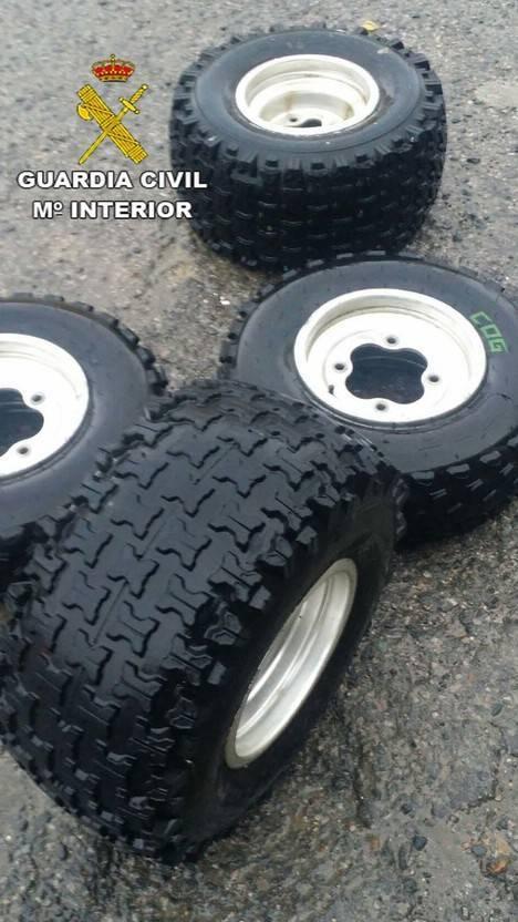 Detenidos por robar un quad al ser descubiertos vendiendo las ruedas por internet