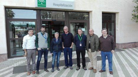El diputado Cañamero visitó el Hospital de Poniente