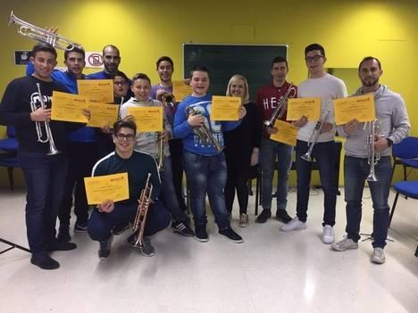 Entregados los diplomas del curso de trompeta de la Escuela Municipal de Música y Danza de Níjar