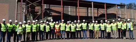 Alcaldes visitan la Planta de Gádor donde se gestionan los residuos que depositan 56 municipios de Almeria