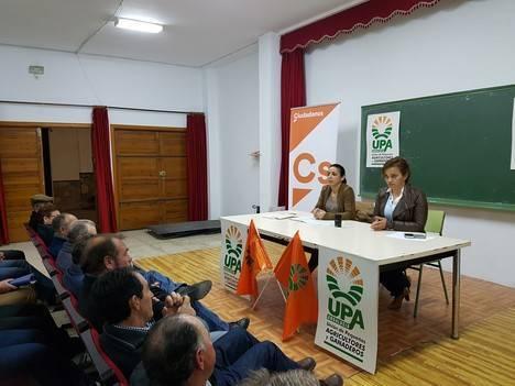 La parlamentaria de Ciudadanos por Almería mantiene un encuentro con la UPA