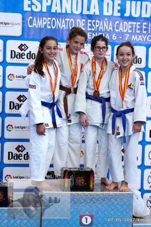 La almeriense Clara Domingo se proclama subcampeona de España Sub-15 de Judo