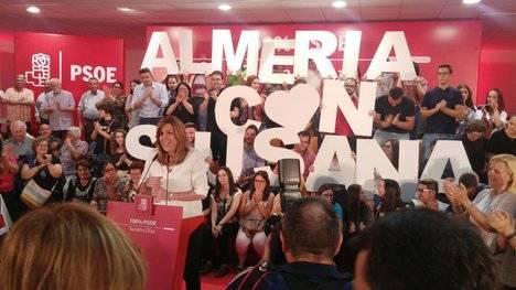 Susana Díaz abre en Níjar el postdebate