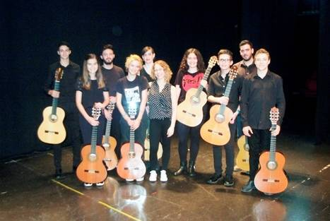 Concierto de guitarra de nueve alumnos de la Escuela Municipal de Música de Roquetas de Mar