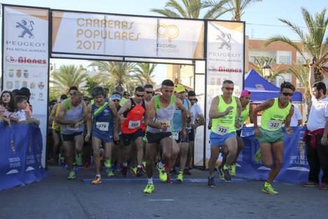 Más de 200 participantes miden sus fuerzas en el 'Circuito de Carreras Populares' a su paso por Antas