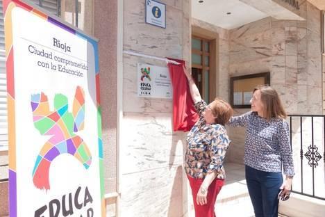 Rioja luce con orgullo el Premio EducaCiudad