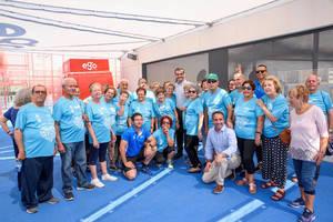 El alcalde acompaña a los mayores en la clausura del Programa de Actividad Física del Patronato Municipal de Deportes