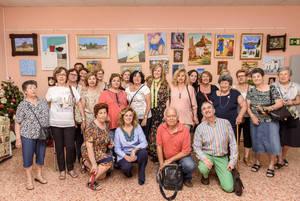 Pilar ortega inaugura la muestra fin de curso del cssc de for Centro de salud ciudad jardin almeria