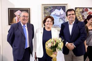 El Patio de Luces se llena de 'Pinceladas de Ilusión' con una exposición colectiva de ACREU Almería