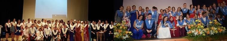Puesta de Bandas fin de curso de los alumnos de los institutos Villa de Níjar y San Isidro