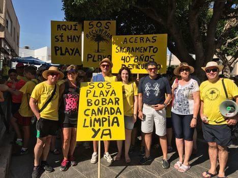 Cs Almería insta a las administraciones a buscar una solución para regenerar la playa de La Cañada