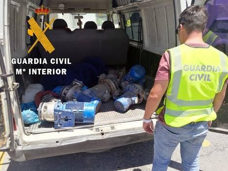 La Guardia Civil detiene a una persona por un delito de receptación de motores sustraídos en invernaderos