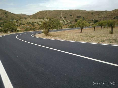 Finalizan las obras de la AL-6107 entre Rambla Aljibe y Albanchez