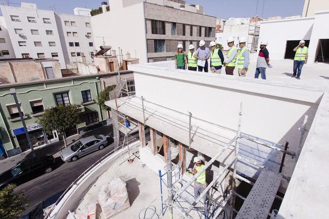 La nueva Biblioteca municipal está al 50% de ejecución