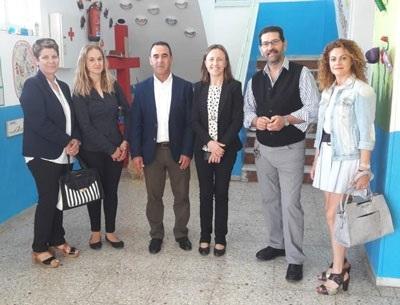 Trabajos de modernización del colegio San Pedro Apóstol de La Mojonera