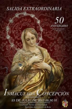 Inmaculada Concepción procesionará por Peñarrodada el 23 de julio en el 50 aniversario de su bendición