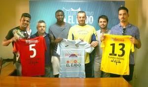 Gianfranco, Mango y Jefferson, al Club Deportivo El Ejido