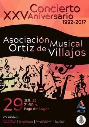 Gran concierto de la Banda Ortiz de Villajos para celebrar su XXV Aniversario