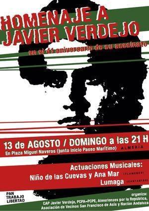 Homenaje a Javier Verdejo en el 41 aniversario de su asesinato