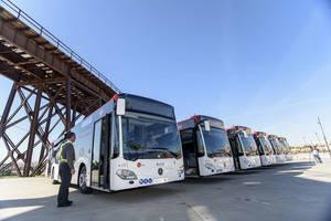 Surbus refuerza con seis líneas más el transporte público urbano durante la Feria de Almería