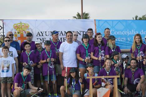 Marcha Nórdica se abre camino en los Juegos de Orientación de la Feria de Almería