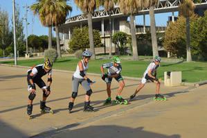 Emoción y espectáculo en el primer Torneo de Velocidad Roller 360 de la Feria de Almería