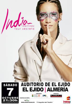 India Martínez ya ha vendido todas las entradas para su concierto en El Ejido
