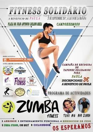 Fitness solidario en Campohermoso para hacer frente a la enfermedad rara de Paula