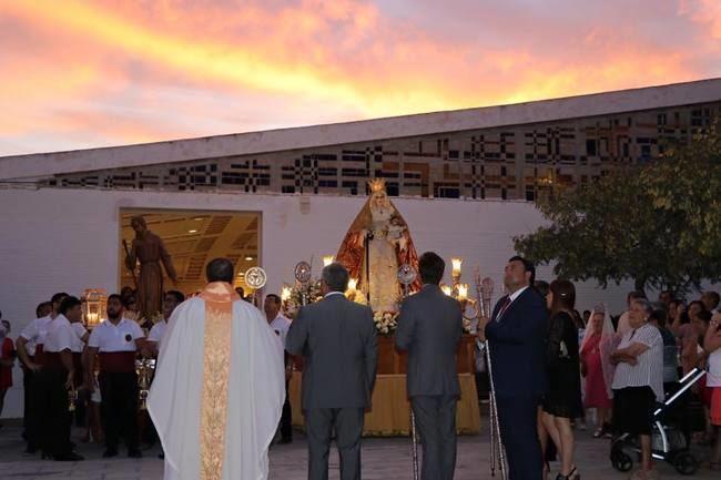 Misa y procesión en honor a San Agustín y a la Virgen de la Consolación
