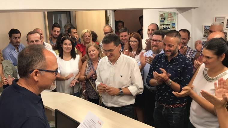 Los cargos de la Junta respaldan la precandidatura de Sánchez Teruel a revalidar la Secretaría General