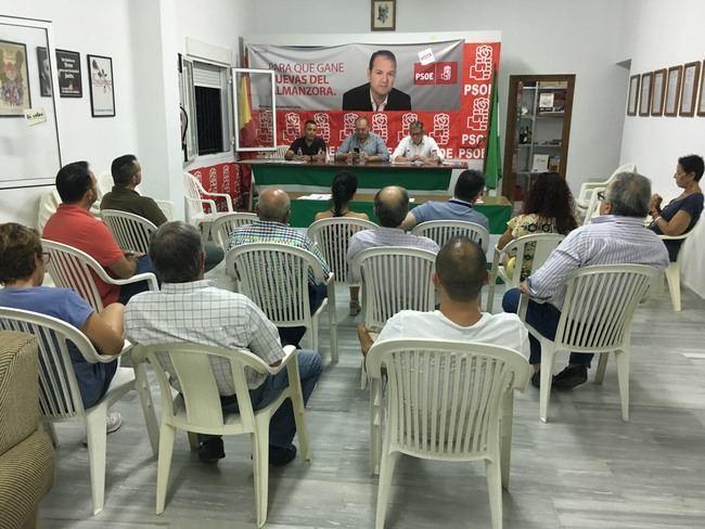 Antonio López Olmo dice en Cuevas que la juventud vuelve al PSOE