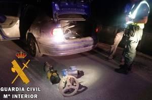 La Guardia Civil detiene a dos personas en El Ejido por receptación de material agrícola