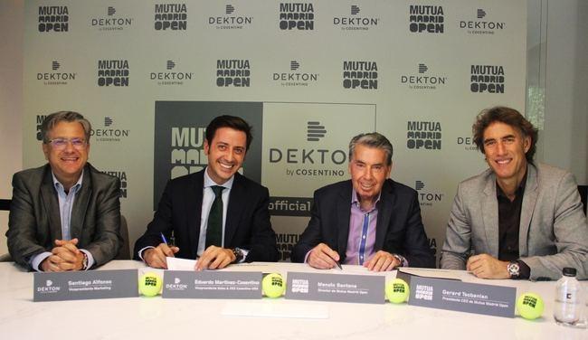 Cosentino renueva su patrocinio con el Mutua Madrid Open para 2018