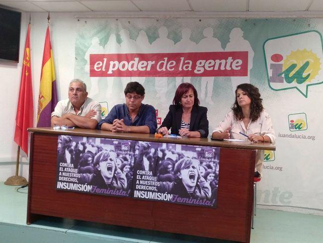 María Jesús Amate, Alexis Pineda y José Gabriel Luque, candidatos a la coordinación provincial de IU Almería