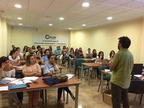 El 50 por ciento de los docentes en prácticas de Almería confían en CSIF para afrontar esta fase