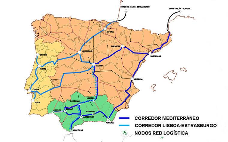 Un informe de la Unión Europea destaca la inexistencia del enlace ferroviario previsto entre Murcia y Almería