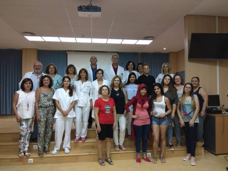 Hospital La Inmaculada recibe al alumnado en prácticas de Cuidados Auxiliares de Enfermería