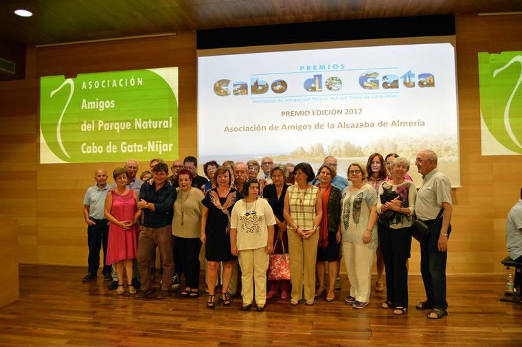 Asociación Amigos del Parque Natural Cabo de Gata-Níjar distingue a Amigos de la Alcazaba